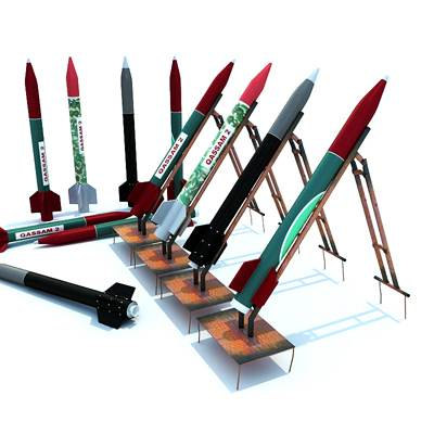 model: Qassam 3D missiles in various colors