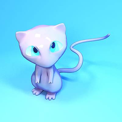 3D model: Famous Japanese Pokemon character Mew