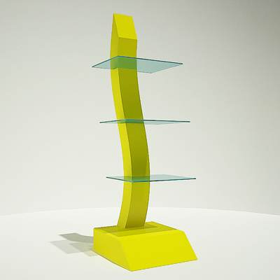 The 3D model of a Futuristic display rack