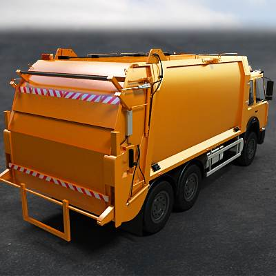 Waste collection truck 3D model