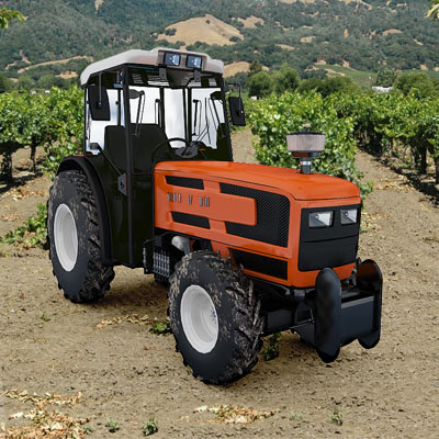 3D model of a Tractor same golden 75