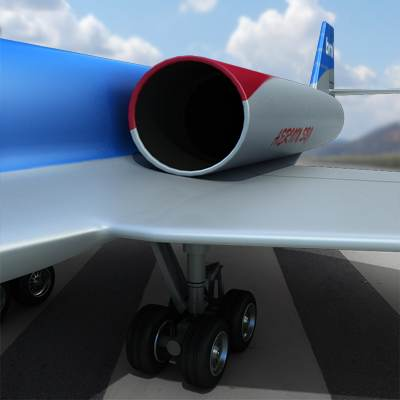Realistic and detailed Aerion SBJ 3D model