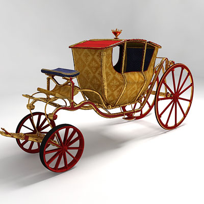 3D model of a Circus carriage