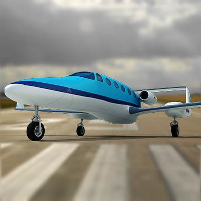 Realistic and detailed Adam aircraft A700 3D model