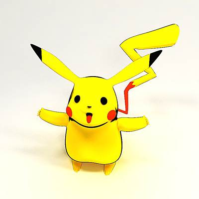 model: 3D Pokemon character Pikachu
