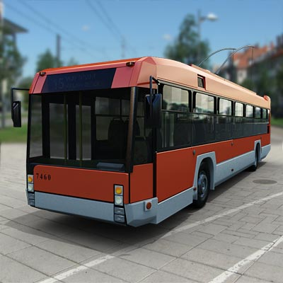 3D model of a Romanian trolley bus