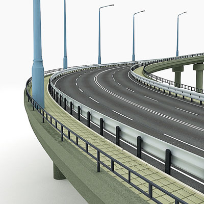 3D model of a Road descent