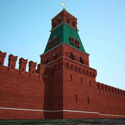 The 3D model of the Moscow Kremlin