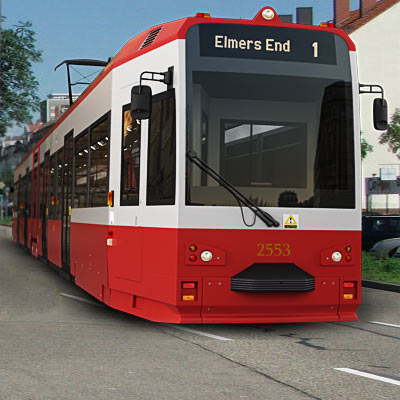 3D model: Contemporary London tram