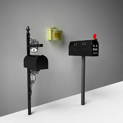 model: 3D decorated mailboxes collection