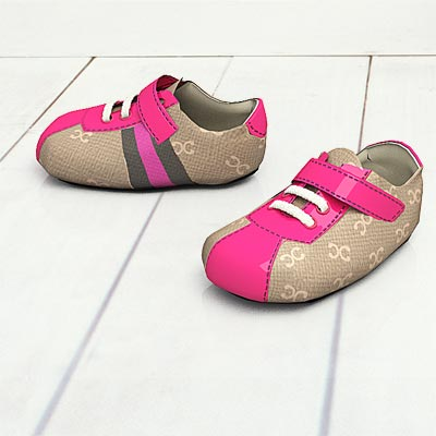 model: 3D Pink and grey sneakers for little sportsmen