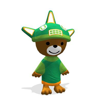 model: 3D Sumi, one of the Olympics mascots