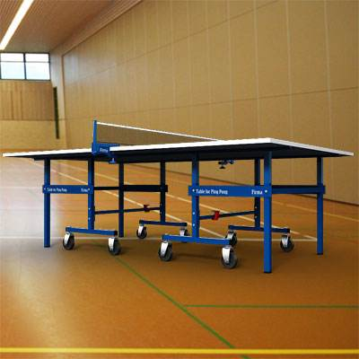 3D model of a Standard ping pong table with blue surface