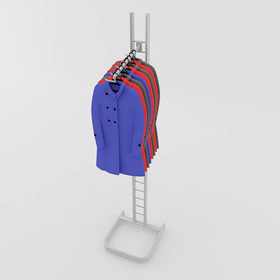 3D model of Raincoats on rack
