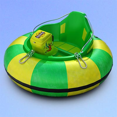 3D model of a one-seat bumper boat