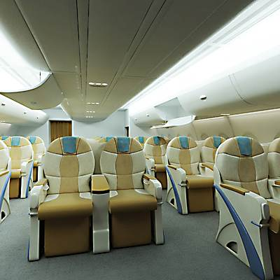Airbus A 380 business class interior 3D model